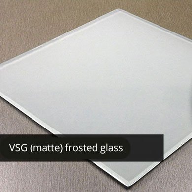 VSG matte-frosted glass