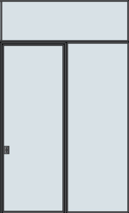 Steel & Glass Interior Door STL-W1-1SL-TR