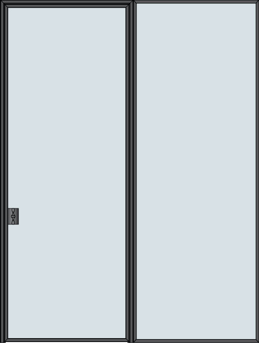 Steel & Glass Interior Door STL-W1-1SL