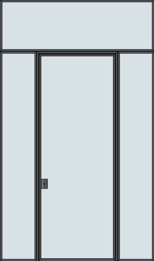 Custom Interior Steel Door STL-W1-2SL-TR