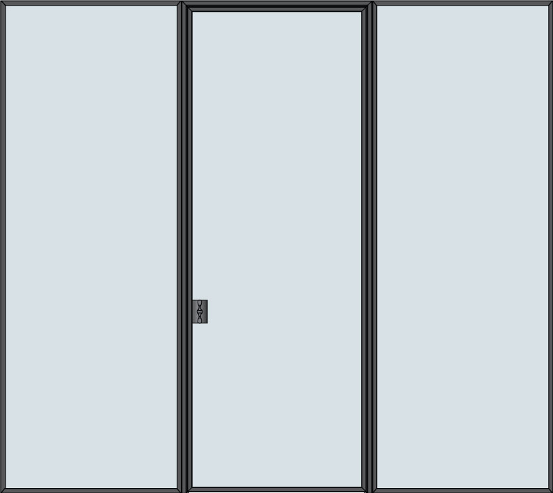 Steel & Glass Interior Door STL-W1-2SL