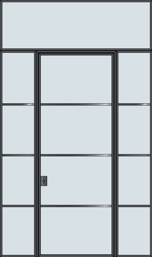 Steel & Glass Interior Door STL-W4-2SL-TR
