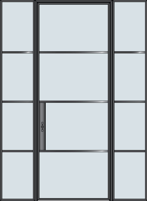 Steel & Glass Interior Door STL-W4-2SL