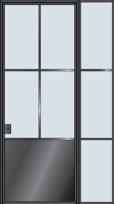Custom Interior Steel Door STL-W4P-1SL