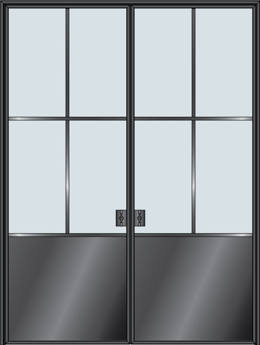 Custom Pivot   Door Example, - STL-W4P-DD