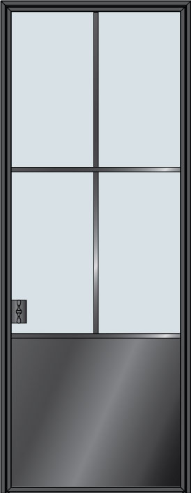 Custom Pivot   Door Example, - STL-W4P