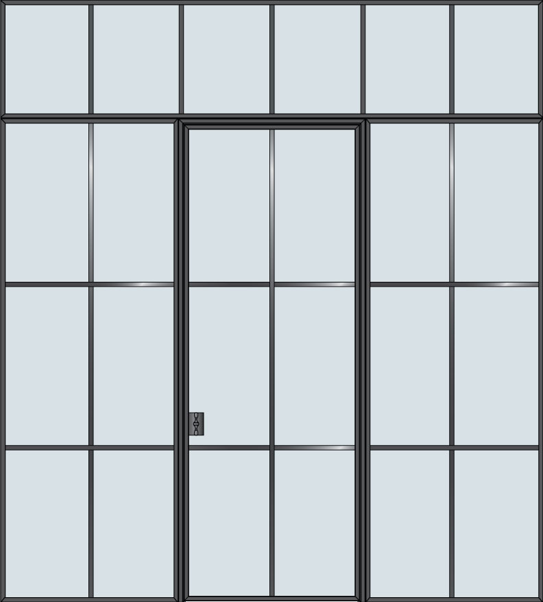 Steel & Glass Interior Door STL-W6-2SL-TR