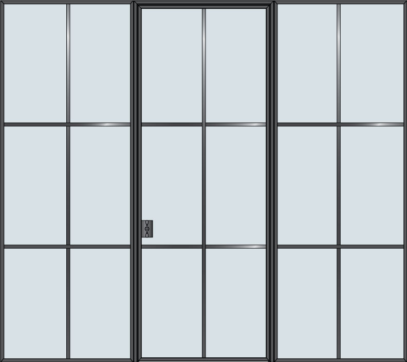 Steel & Glass Interior Door STL-W6-2SL