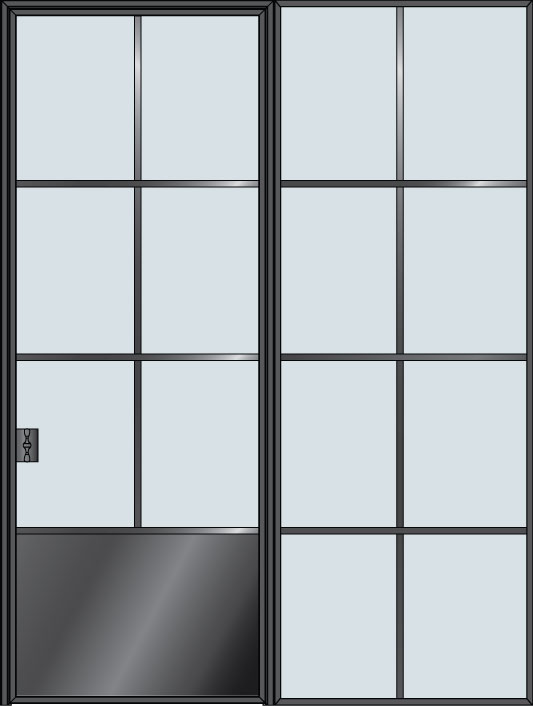 Steel & Glass Interior Door STL-W6P-1SL