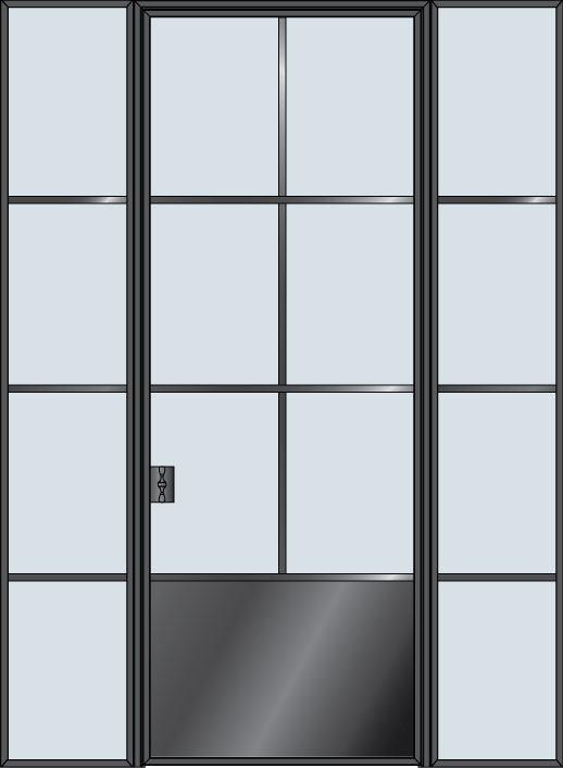Custom Interior Steel Door STL-W6P-2SL