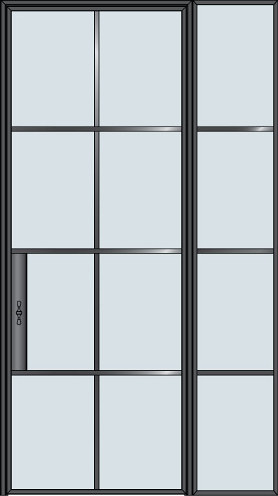 Custom Interior Steel Door STL-W8-1SL