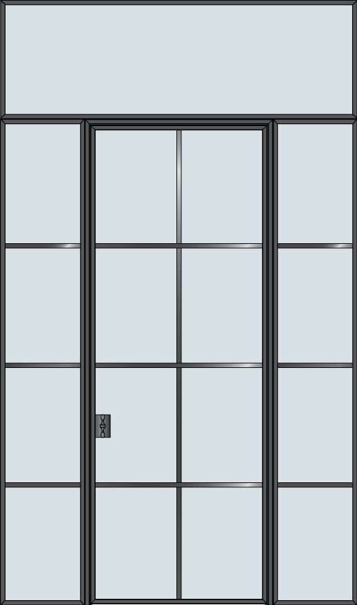 Steel & Glass Interior Door STL-W8-2SL-TR