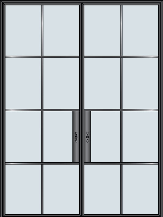 Custom Pivot   Door Example, - STL-W8-DD