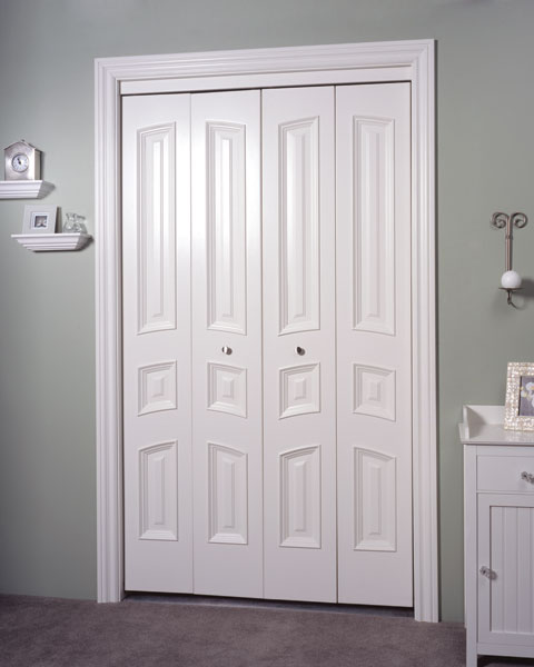 Minimalis Custom Metal Bifold Closet Doors Ideas