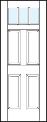 pl443 Paint Grade MDF Interior Doors