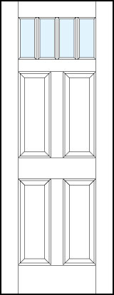 pl444 Paint Grade MDF Interior Doors