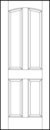 ts4050 Paint Grade MDF Interior Doors