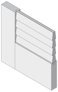 False Louver Profile - MDF Doors