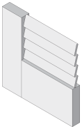 Vented Louver Profile - MDF Doors