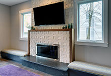 Custom Windows Project - Casement Windows surrounding fireplace