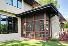 Custom Windows Project - Clad windows near Sunroom