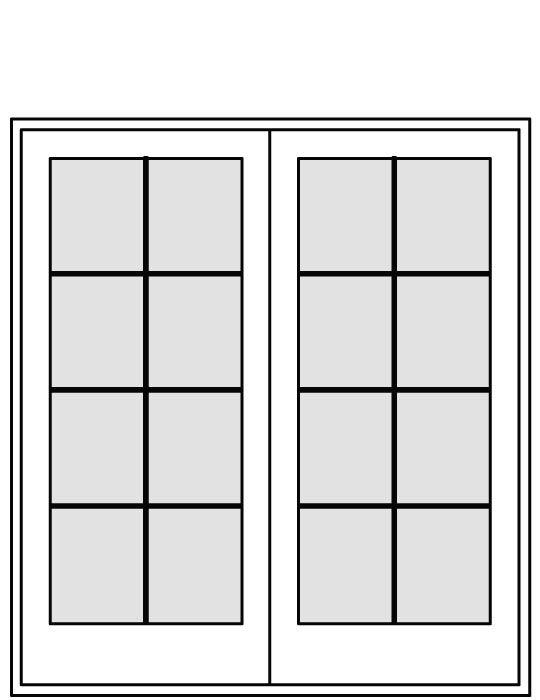 WD-CFSH-6068-2P-GR Patio Doors