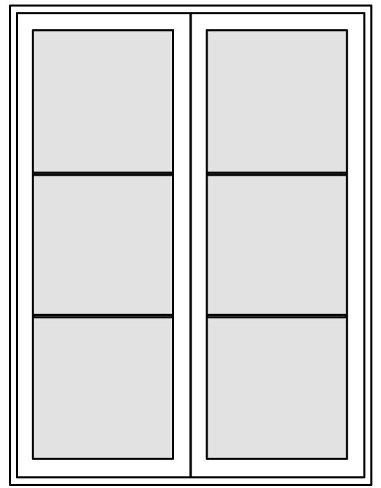 WD-CNSH-6080-2P-CN Patio Doors