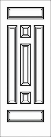 5124 Paint Grade MDF Interior Doors