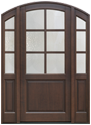 Arch Top Wood Front Doors in-Stock
