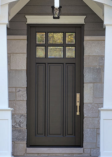 Contemporary Series Solid Wood Front Doors In Stock