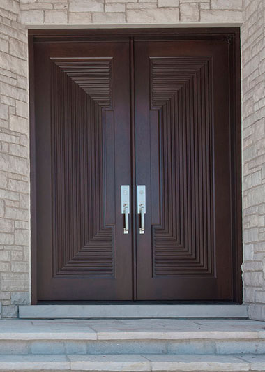 Solid Wood Custom Interior Modern Entry Doors