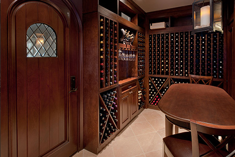 Wine Cellar Custom Doors