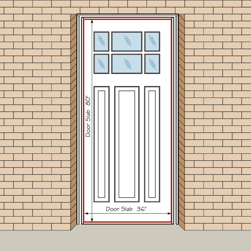 Door size supreme standard door width standard single for Door sizes uk
