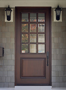 single wood entry doors