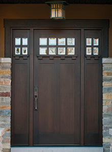 Wood Entry Doors - Single with Sidelites