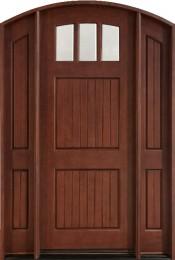 db-245-2sl-cst-medium-mahogany-entry-door